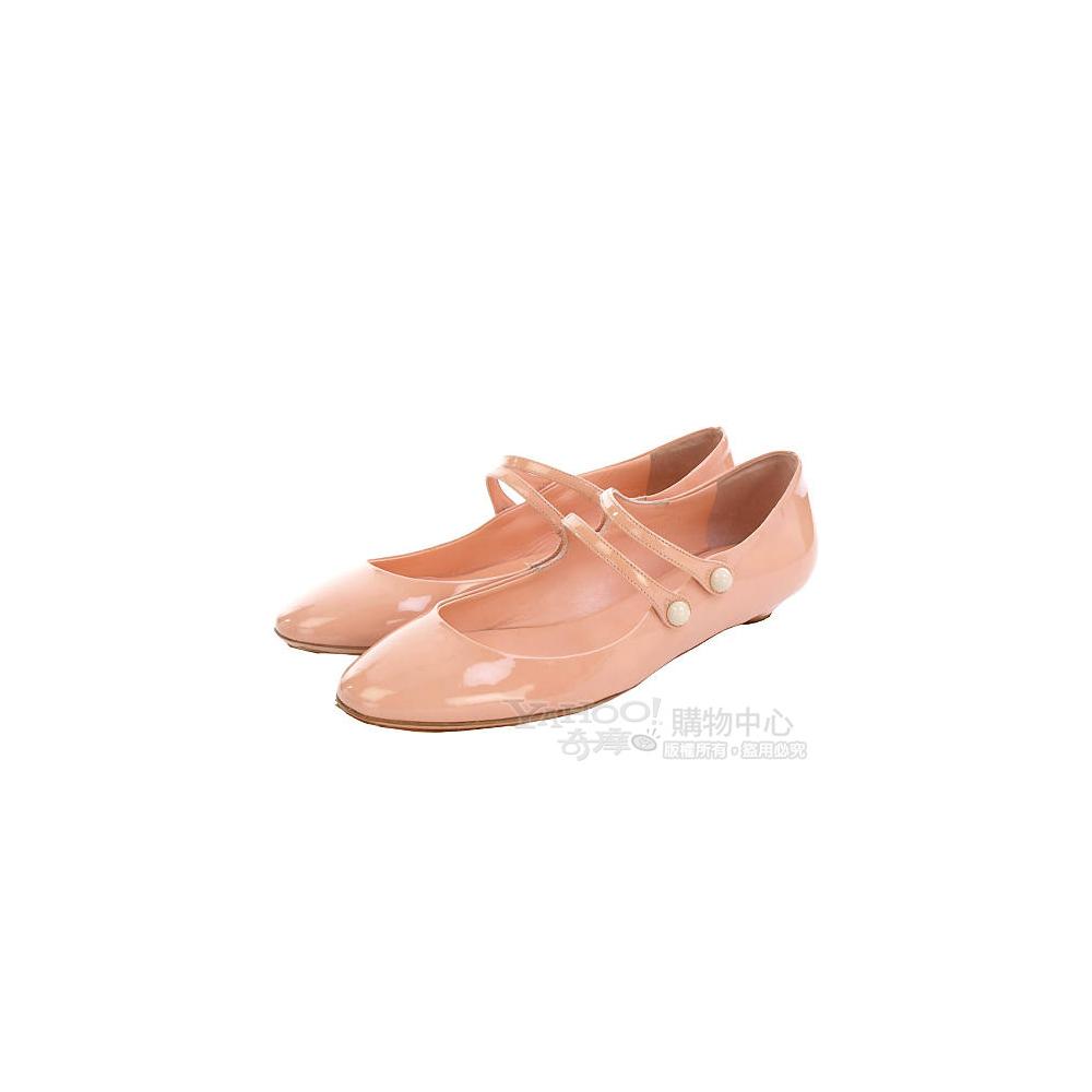 miu miu 漆皮娃娃鞋(蜜桃色)