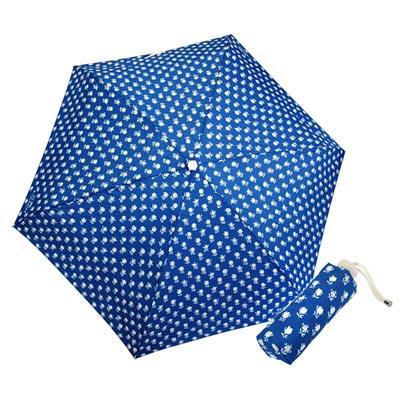COACH藍底白色小花圖繪輕量攜帶型晴雨傘