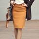 【N.C21】拉鏈開衩毛料及膝窄裙 (共四色