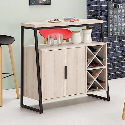 Bernice-諾文3.4尺吧台桌型餐櫃/酒櫃(兩色可選)-102x40x100cm