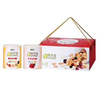 統一生機 果然優堅蔓禮盒(綜合堅果360g+蔓越莓乾360g)