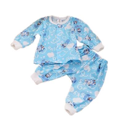 薄長袖居家套裝-天藍 k60088