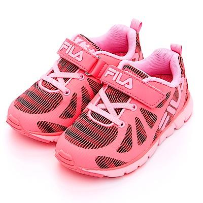 FILA KIDS 中童輕量MD慢跑鞋-粉 2-J424S-222
