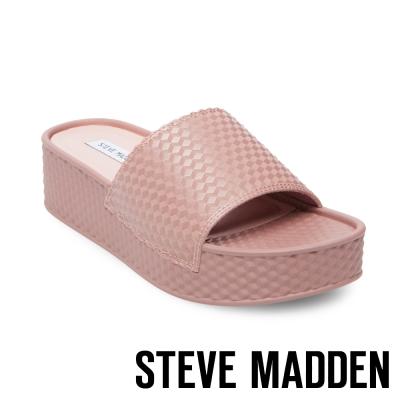 STEVE MADDEN-SHARPIE-MAUVE 幾何紋厚底一字拖-粉色
