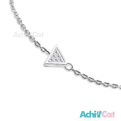 AchiCat 925純銀手鍊 知心閨蜜 幾何三角