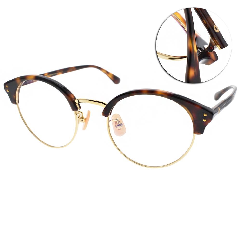 NINE ACCORD眼鏡 復古眉框/玳瑁-金#LENTOP YURI C02
