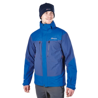 【Berghaus貝豪斯】男款GT2合1溫度調節高科技棉防水外套H22MT1藍
