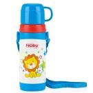 Nuby 不鏽鋼背帶保溫水壺(杯蓋)-哈哈獅 360ml(4Y+)