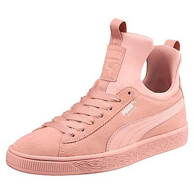 PUMA-SuedeFierceWns女籃球鞋-蜜桃白