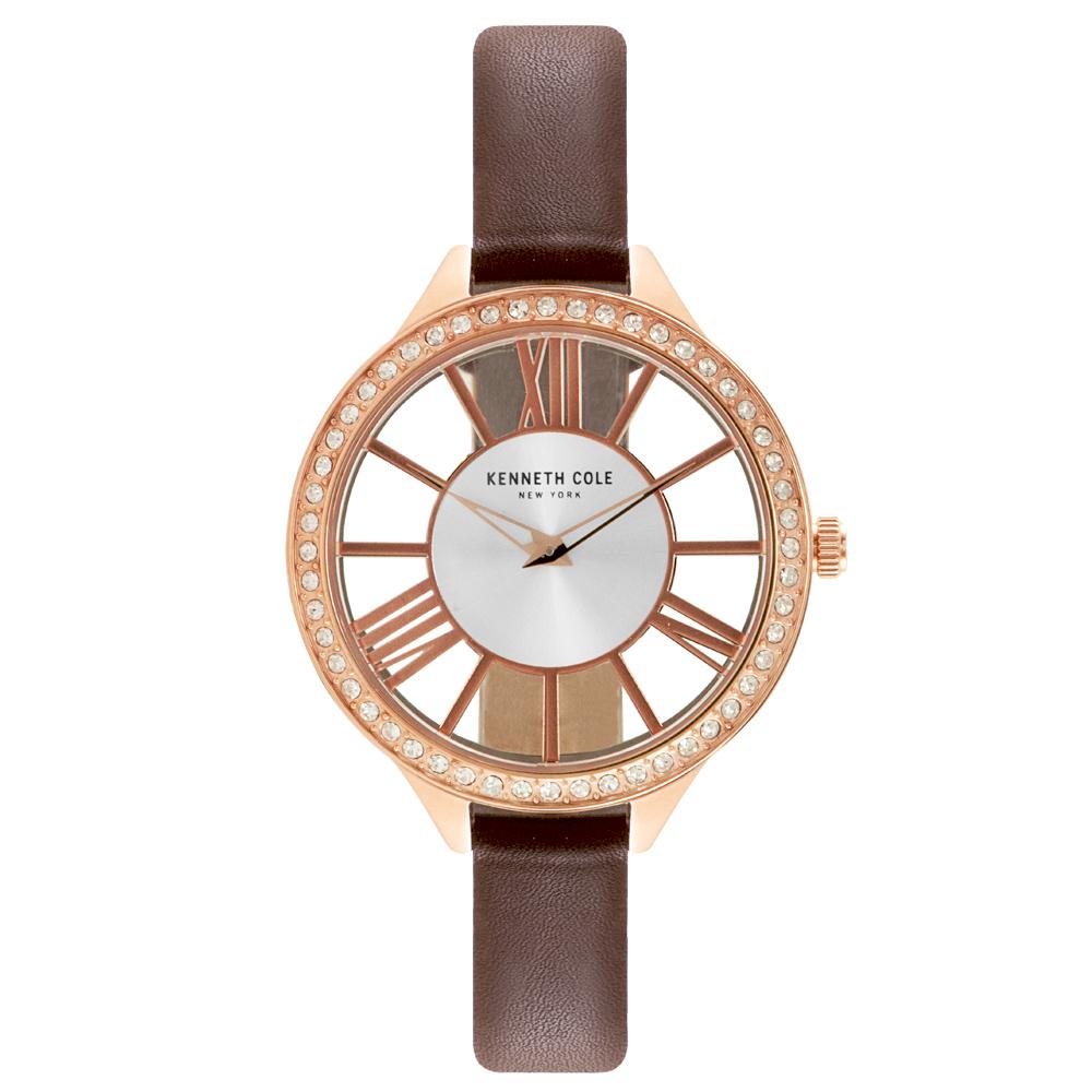 Kenneth Cole 羅馬夜夢時尚晶鑽腕錶-KC50184002-41mm