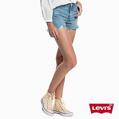 高腰牛仔短褲 女款 WEDGIE排扣 - Levis