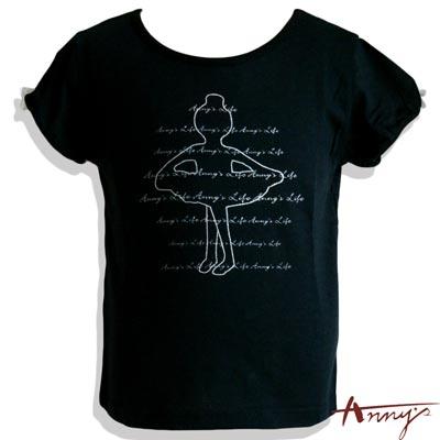 蕾絲袖邊芭蕾舞者短袖上衣*9342黑
