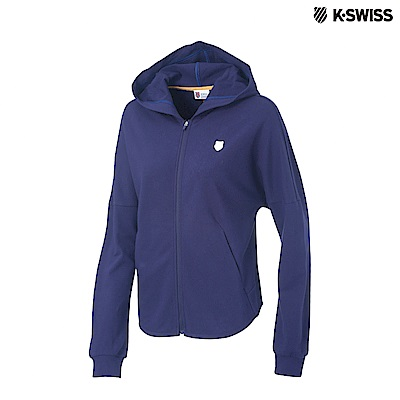 K-Swiss Hooded Sweat Zip Up連帽外套-女-藍