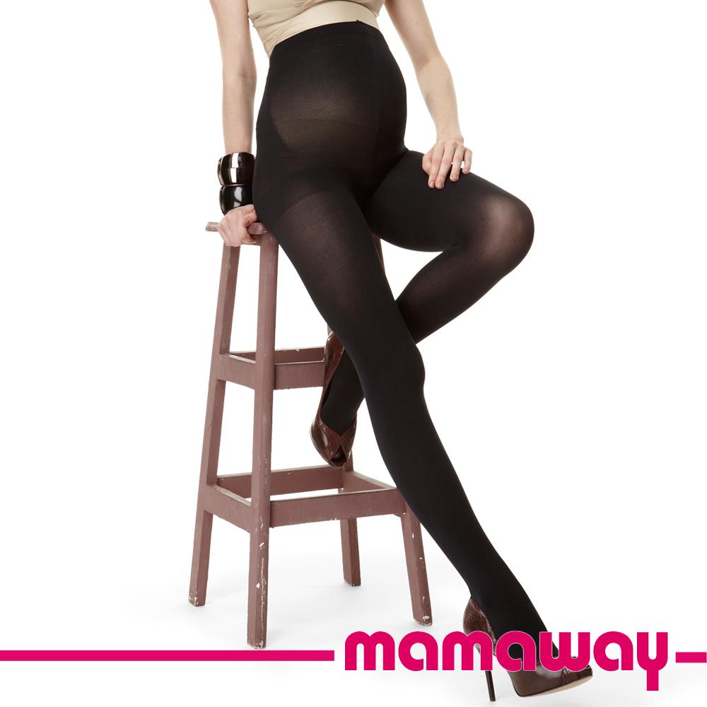 Mamaway 超細不透明孕婦褲襪(黑色二入組)
