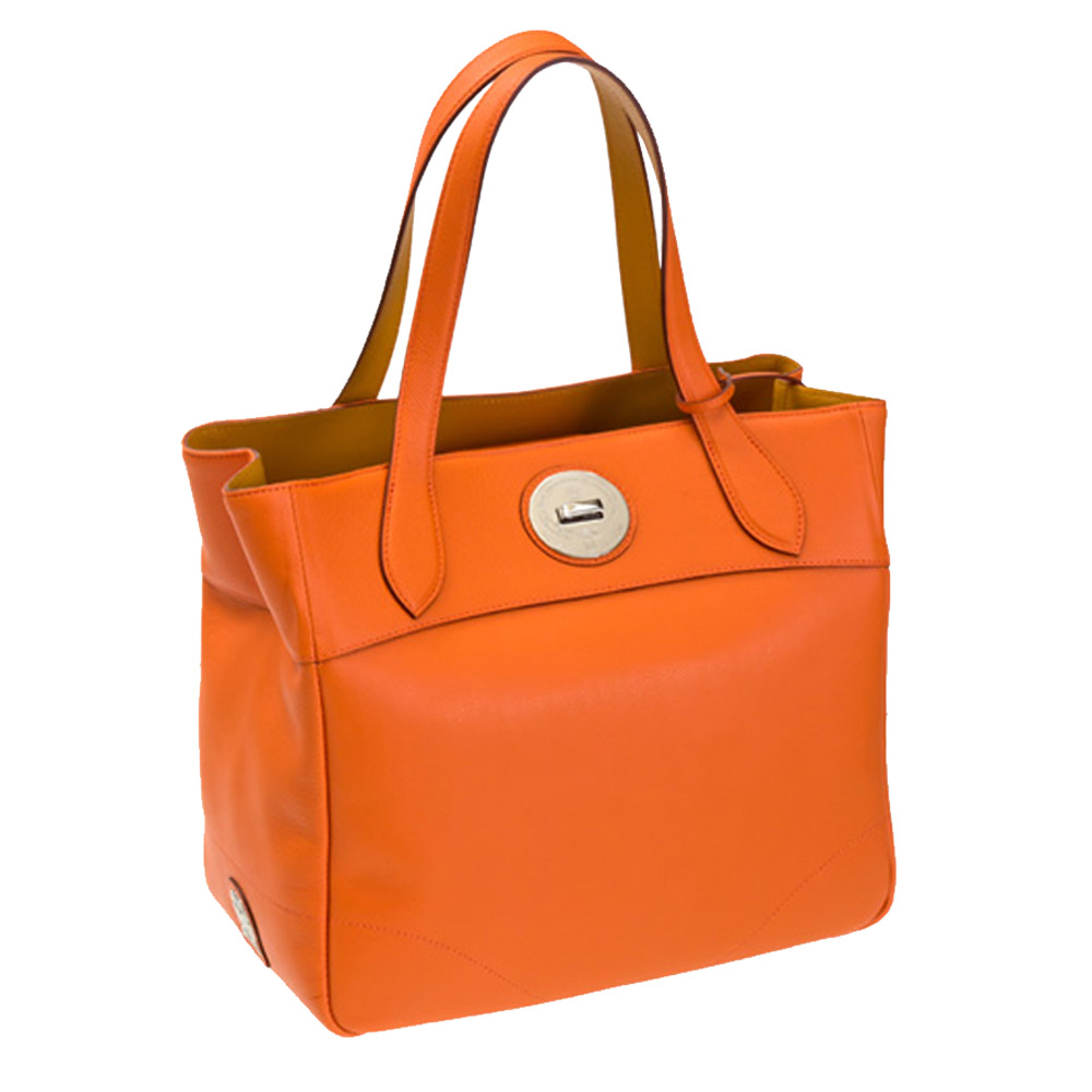 A.D.M.J. 小牛皮BOX CALF VERA - TOTE-30 (ORANGE)