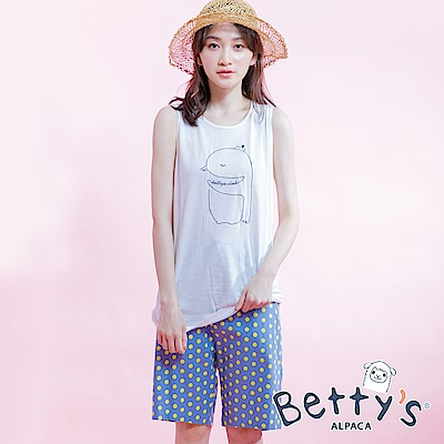 betty's貝蒂思 後鬆緊點點活力短褲(淺藍)