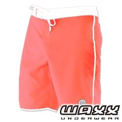WAXX 繽紛系列-吸濕排汗男性衝浪褲(粉橘色)(18吋)