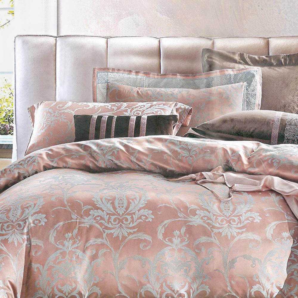 義大利La Belle 芙尼蒂兒 加大緹花四件式被套床包組