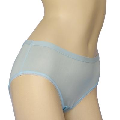三角褲 100%蠶絲簡約少女內褲2件組M-XL(水藍)Seraphic