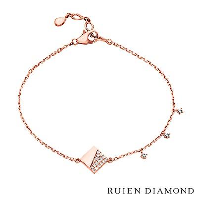 RUIEN DIAMOND 韓國輕珠寶 飾品 配件14K玫瑰金 手鍊 LB142