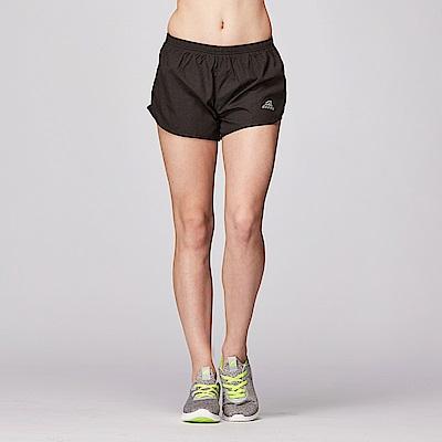 【ZEPRO】女子Ze紋路運動時尚造型短褲-絕對黑