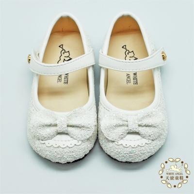 天使童鞋-C2316 冰晶愛麗絲娃娃鞋 (小童)-雪花白
