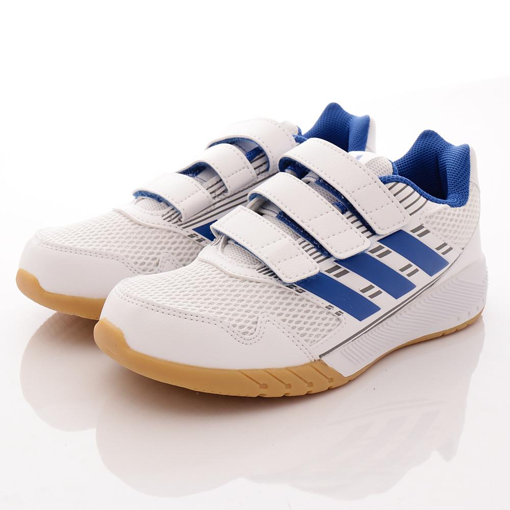 adidas童鞋-透氣運動鞋款-NI419藍白(中大童段)HN