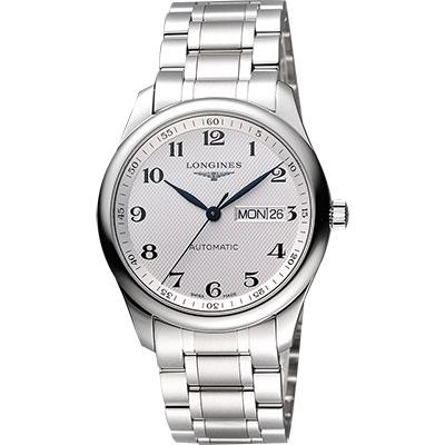 LONGINES Master 巨擘系列機械腕錶-銀/38.5mm