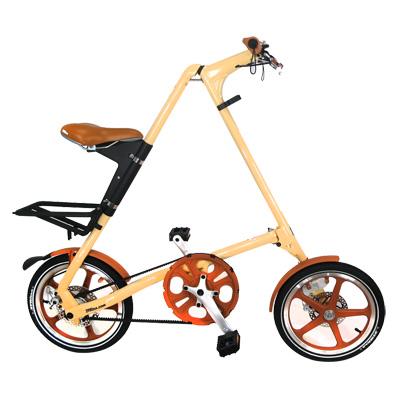 STRiDA 速立達 16吋LT折疊碟剎單車(三角形單車)-奶油色