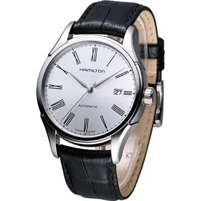HAMILTON Classic 經典時尚機械錶-銀白/40mm