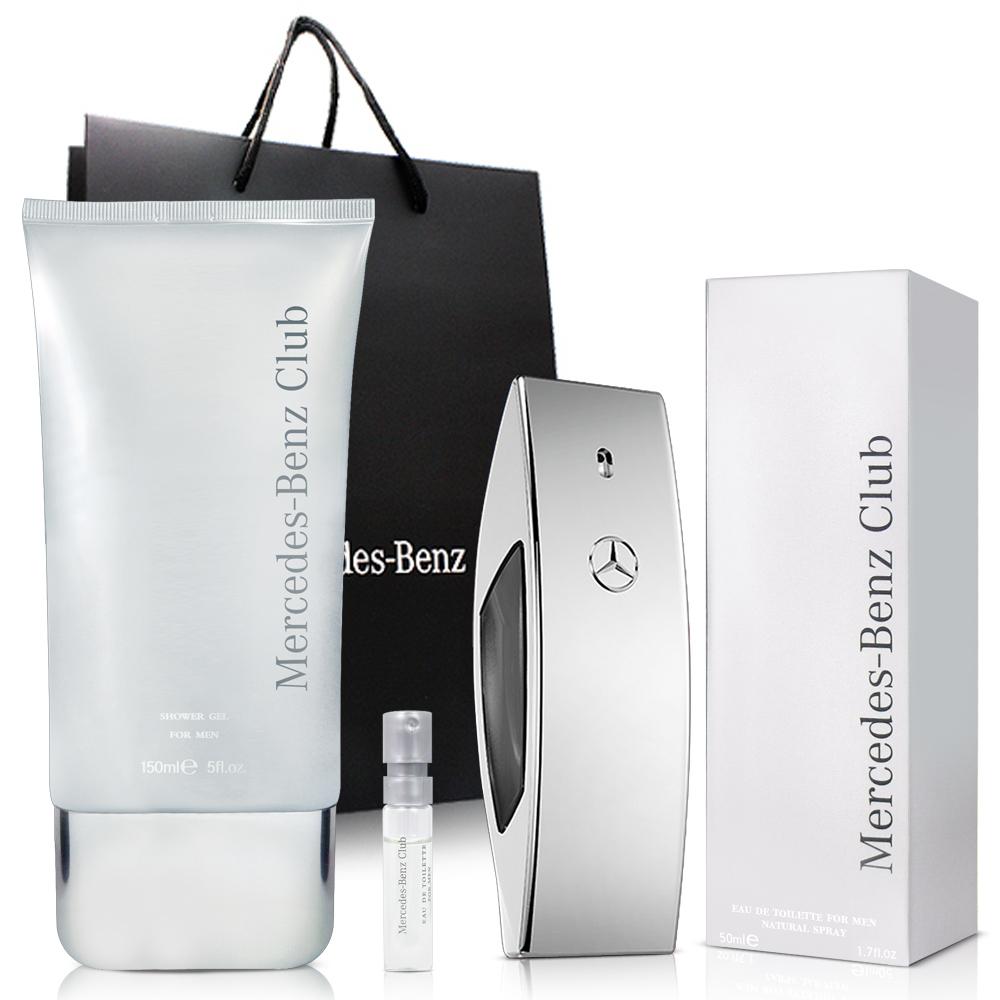 Mercedes Benz  賓士銀色風潮男性淡香水(50ml)-送沐浴精150ml&針管