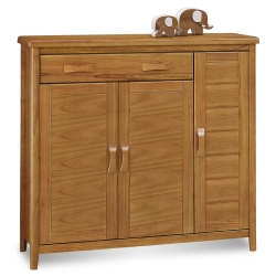 愛比家具 絲莉愛4尺柚木實木鞋櫃