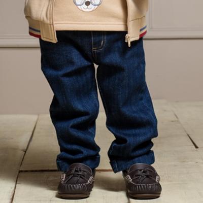 愛的世界 MYBABY 彈性鬆緊帶反褶牛仔褲 2-4歲