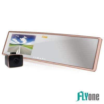 FLYone RM06 測速照相+ADAS+GPS軌跡+前後雙鏡 後視鏡行車記錄器-急速配