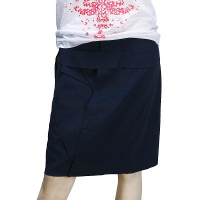 BALENCIAGA 特殊剪裁及膝窄裙(藏藍-40)