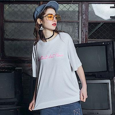 DADA SUPREME 韓國刺繡緞帶上衣-女-白