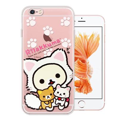 日本授權正版 拉拉熊 iPhone6s/6 plus 5.5吋 變裝彩繪手機殼(...