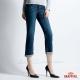 BRAPPERS 女款 Boy Firend Jeans 系列-女用彈性七分反摺褲-藍 product thumbnail 1