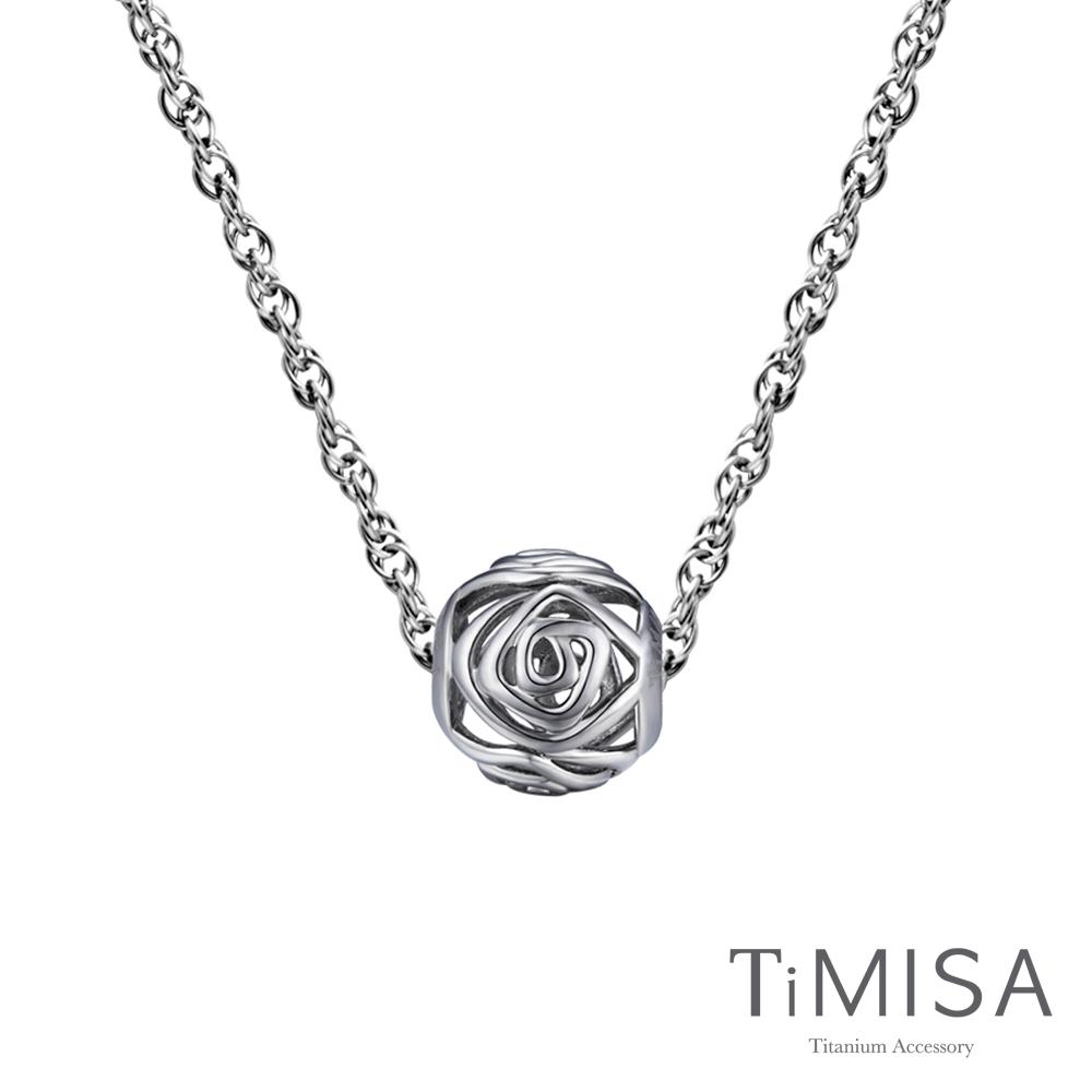 TiMISA 玫瑰  純鈦串飾項鍊(SB)