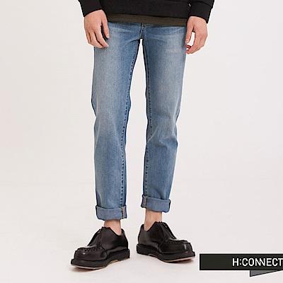 H:CONNECT 韓國品牌 男裝 - 基本刷色牛仔褲 - 藍