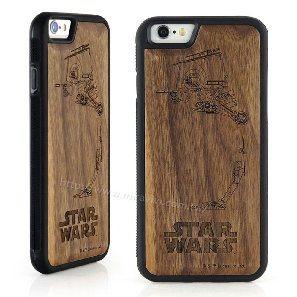 Star Wars iphone 6 plus / 6s plus 原木雷雕手機殼