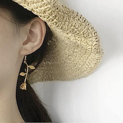 Hera 赫拉 復古手工玫瑰花耳環 針式/無耳洞夾式