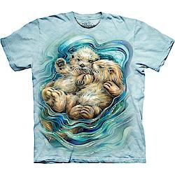 摩達客 美國進口The Mountain 恩愛水獺 純棉環保短袖T恤