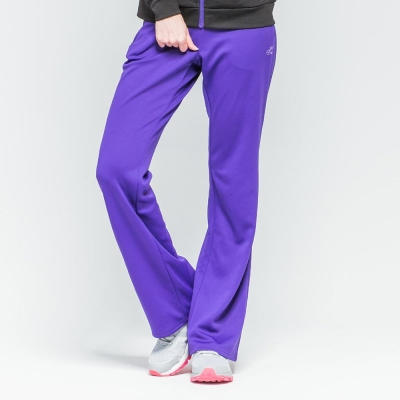 FIVE-UP-女-舒適簡約針織長褲-紫