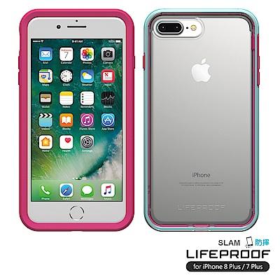 LIFEPROOF iPhone8+/7+專用 吸震抗衝擊防摔手機殼-SLAM(桃青)