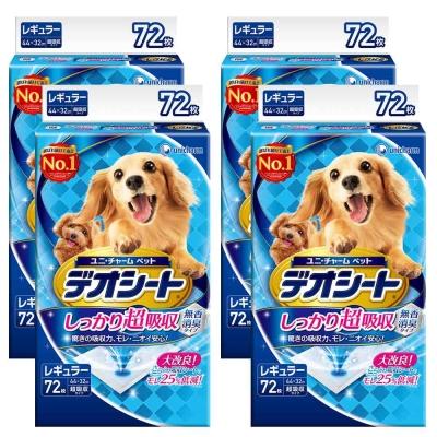 日本Unicharm消臭大師 超吸收狗尿墊 M號 72片裝 x 4包