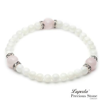 大東山珠寶 氣質珠貝桃花粉晶手鍊