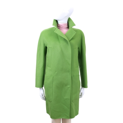 MAX MARA-SPORTMAX 綠色口袋設計羊毛大衣