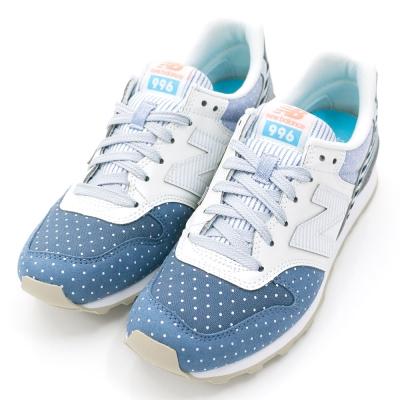 New-Balance-女復古慢跑鞋-米白藍