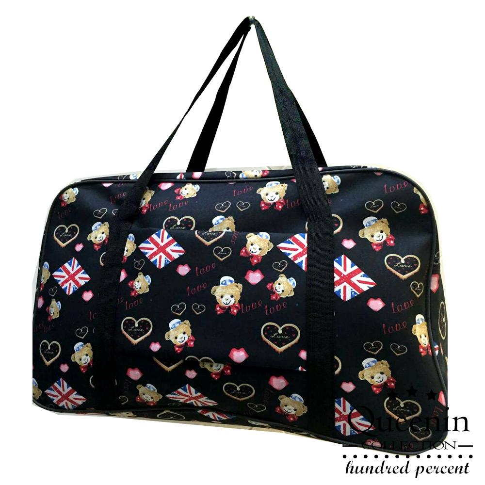 DF Queenin - 出國馬上走!超輕超大容量旅行袋可掛行李桿-共7色 product image 1